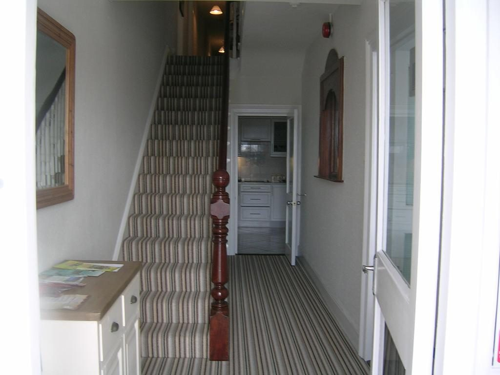 Port na glas Visit Portrush Northern Ireland Entrace hall with stairs to rooms