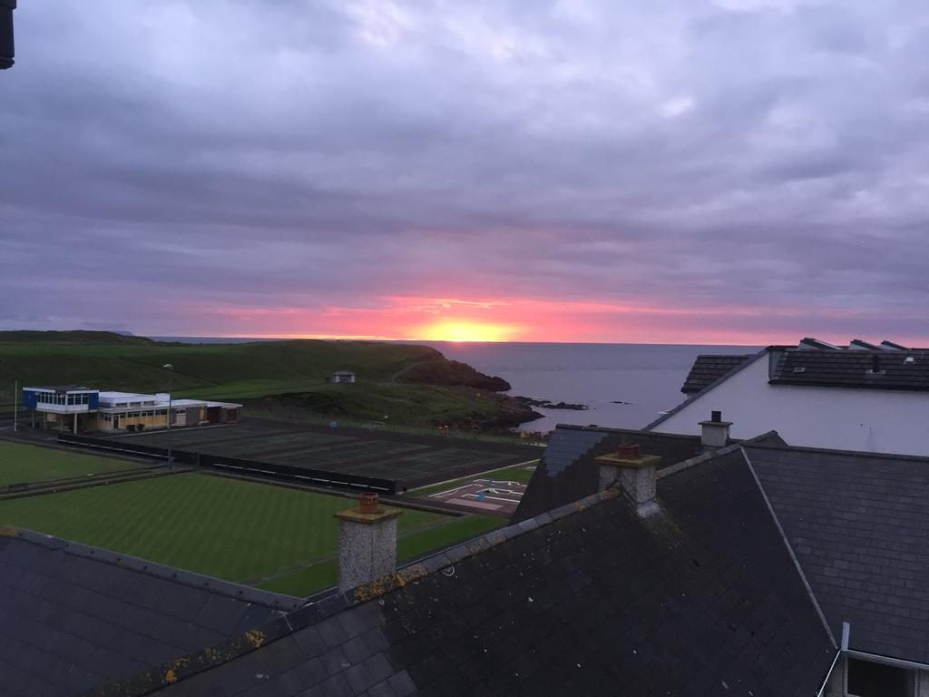 Ramore Ave Apartment Visit Portrush Northern ireland view from main bedroom over Ramore head to Donegal and the Atlantic Ocean