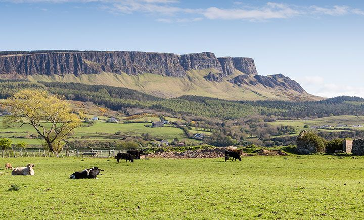 Binevenagh Mountain between Coleraine and limavady film location for game of thrones