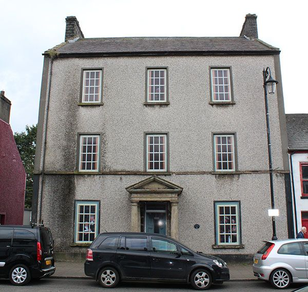 The front of the old bushmills courthouse