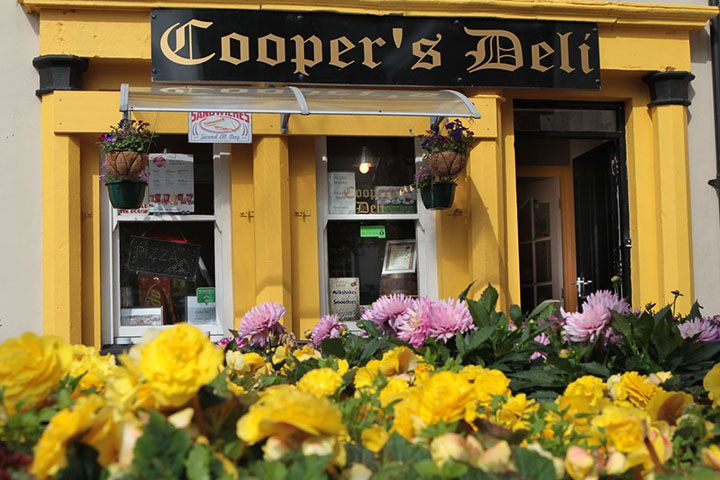 The front of Coopers deli in bUSHMILLS