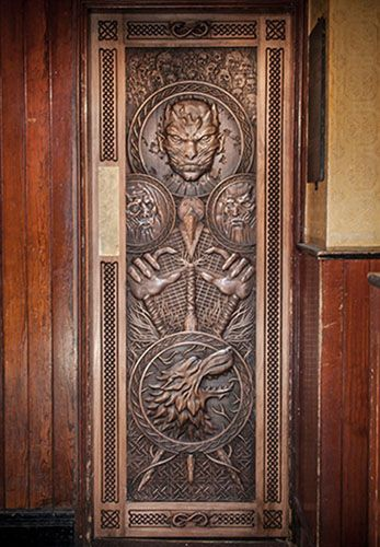 The door number five from the Game of thrones Journey of the doors in oWENS bAR lIMAVADY