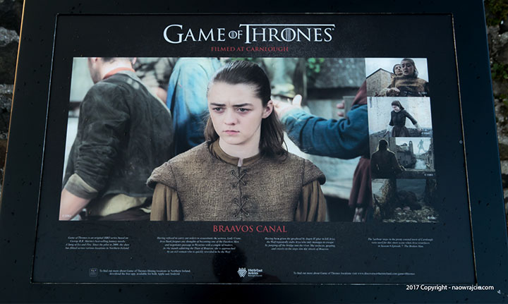 carnlough Harbour game of thrones film location board