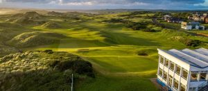Castlerock-Golf-Club-near-Portrush-View-over-the-club-house-and-the-fairways