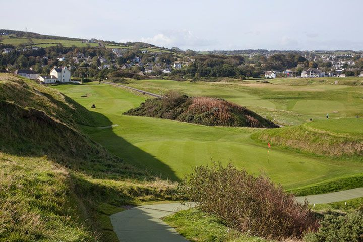 View over Ballycastle Golf cOURSE FROM THE 3RD TEE