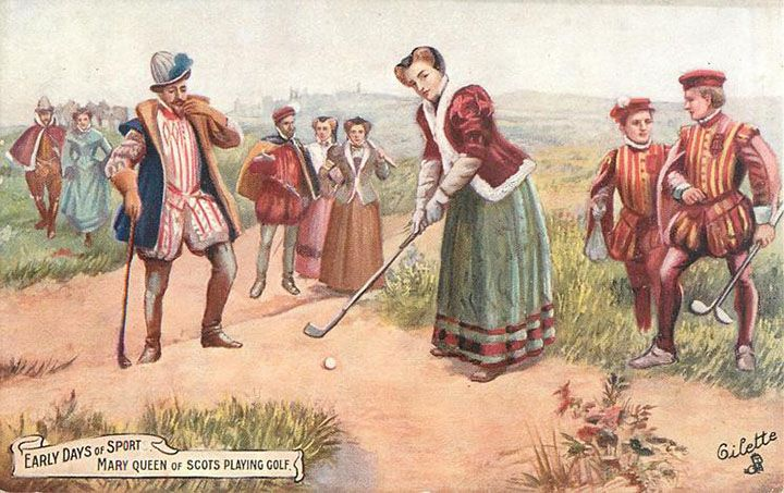 Mary-Queen-of-Scots-playing-Golf